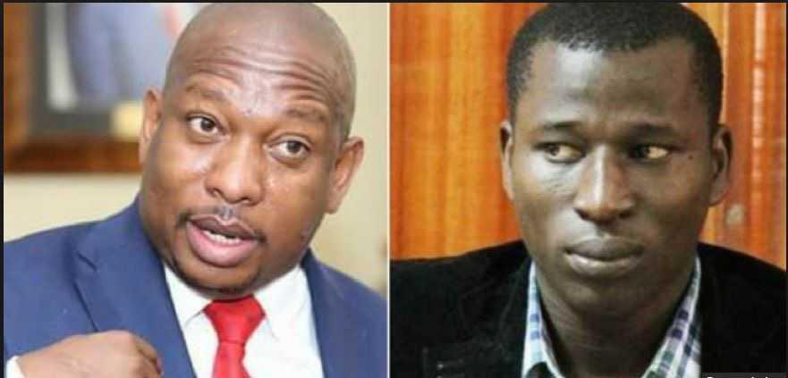 Nairobi governor Mike Sonko and Cyprian Nyakundi