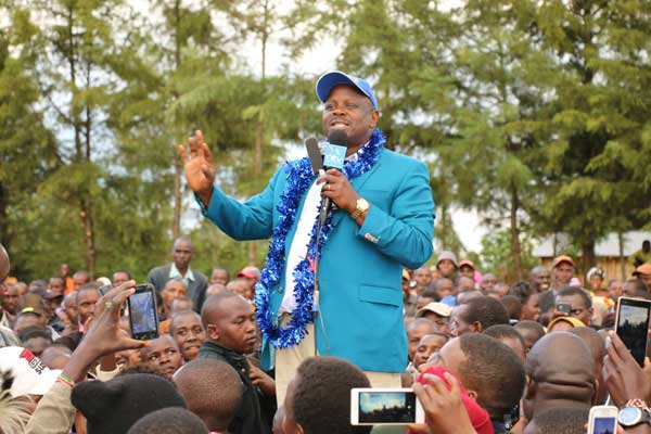 Isaac Ruto Campaigning for Re-election as Bomet Governor.