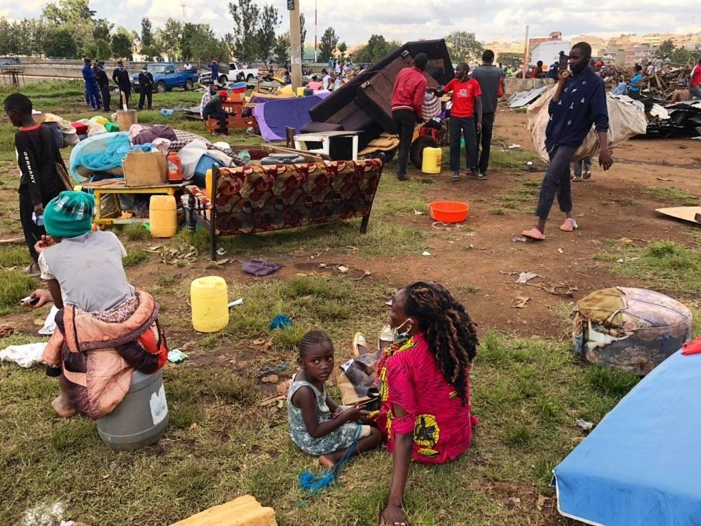 Several Families Are Left Homeless After The Government Destroyed Houses In Kariobangi