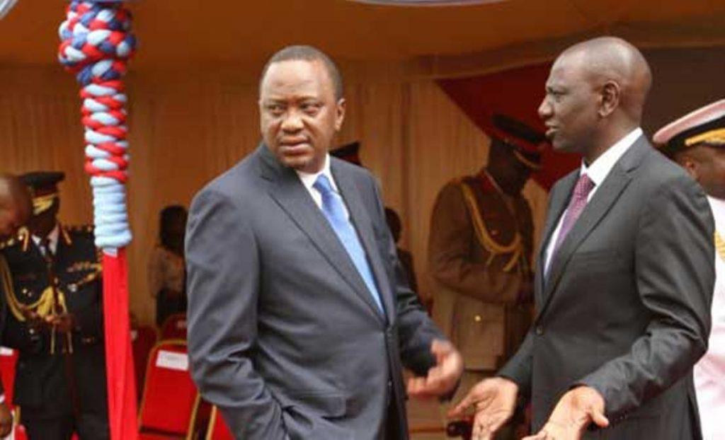 Uhuru Kenyatta and William Ruto at previous function
