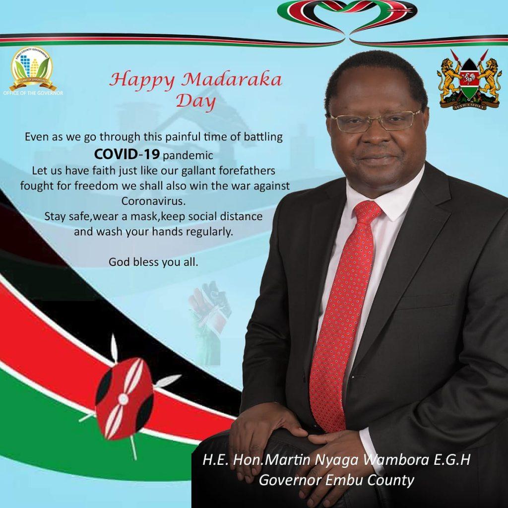 Embu governor Mr. Martin Wambora