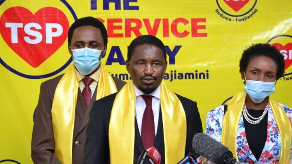 Mwangi Kiunjuri unveiling his new political party on June 24, 2020.