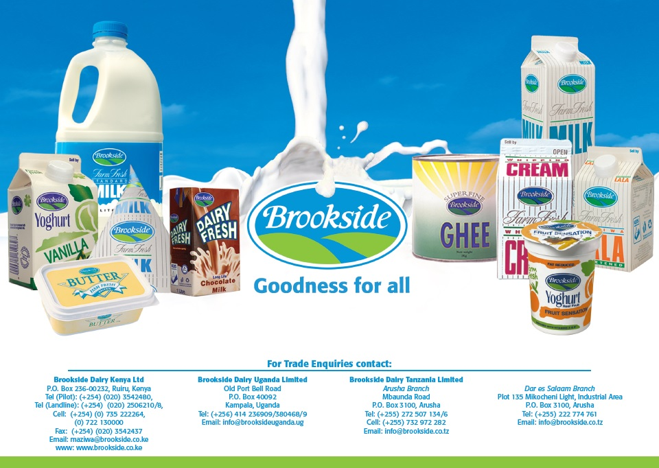 Brookside company products on display.
