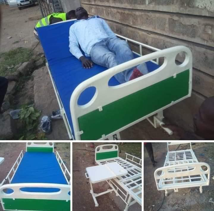 Otieno's prototype hospital bed. This was what the president originally wanted to buy.