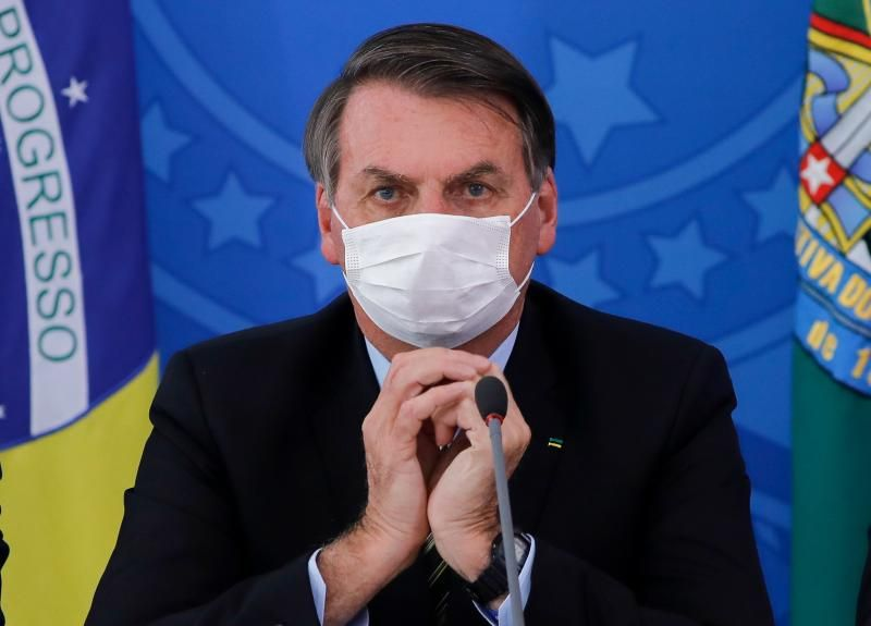 Brazilian President Jair Bolsonaro. Like Fred Matiangi, Mr. Bolsonaro has tested positive for Covid-19. For him, thrice in the past four weeks!