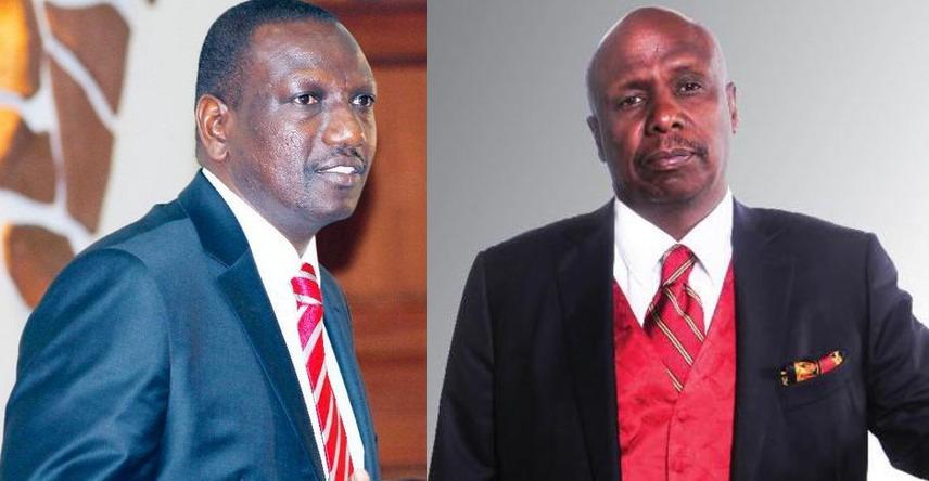 Deputy President William Ruto (Left) and Baringo Senator  Gideon Moi